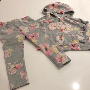 Baby Gap light gray hoodie and pants